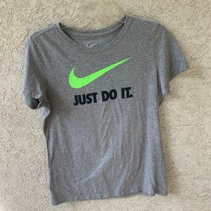 Nike Short Sleeve Top Gray Women's Large